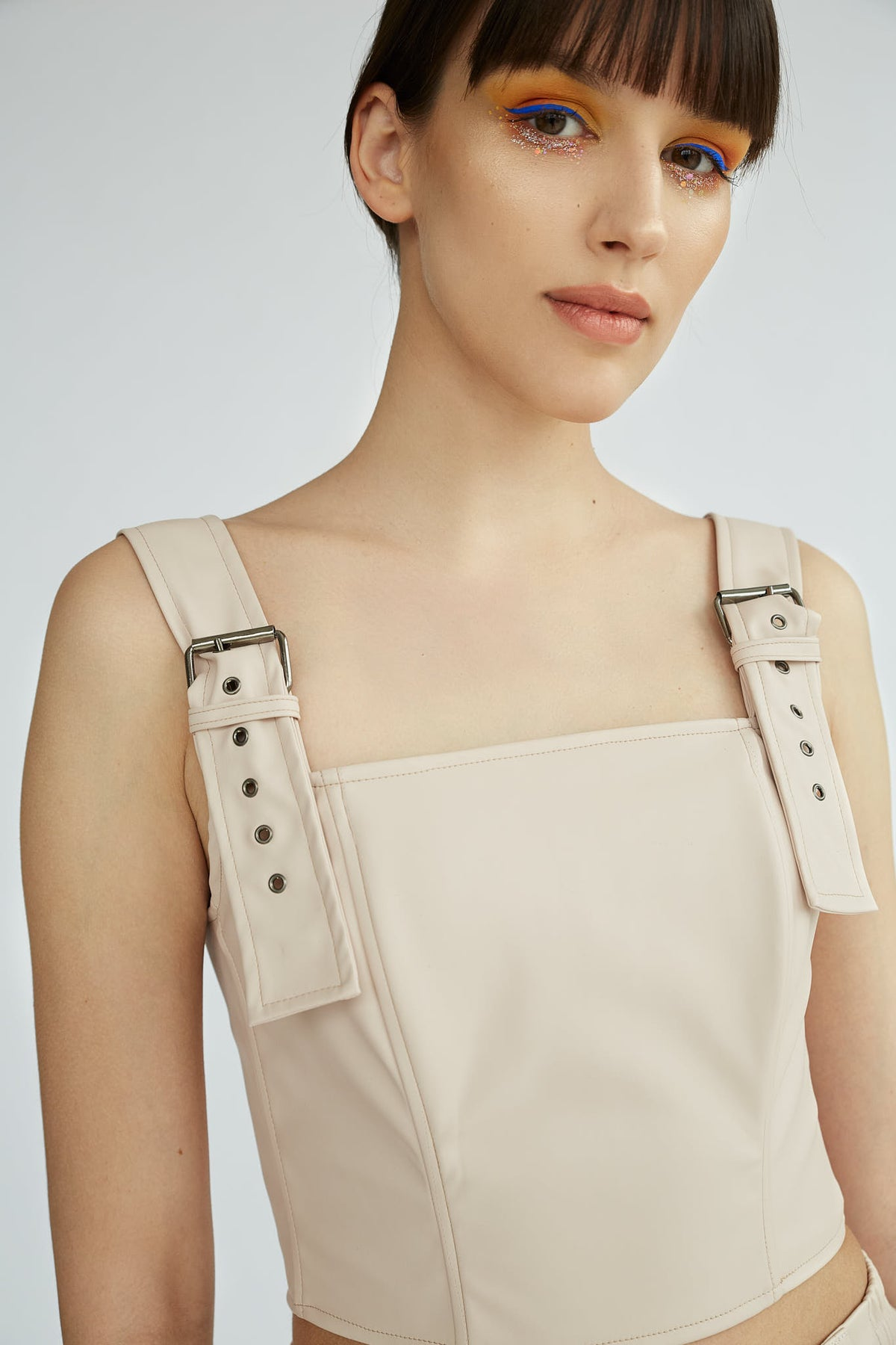 SHOREDITCH | Soft eco leather crop top