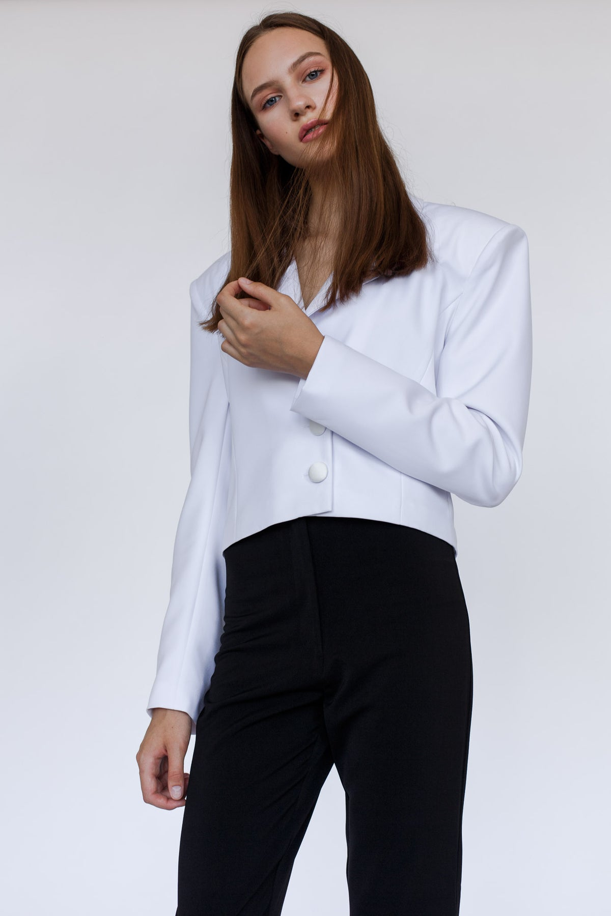 EMPOWERED | White cut fit jacket