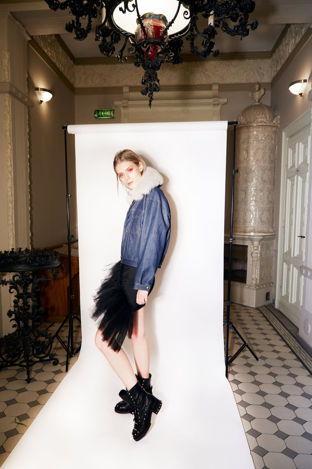 Genes-Blue-Denim-Jacket-With-Attachable-Grey-Fox-Fur-Collar-lookbook.jpg