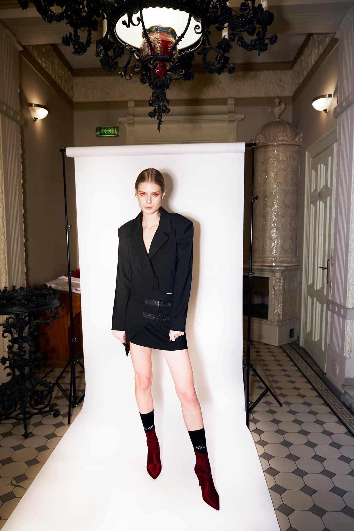 Empowered-Black-Triangle-Tailoring-Short-Skirt-Clothing-le-slap-lookbook.jpg