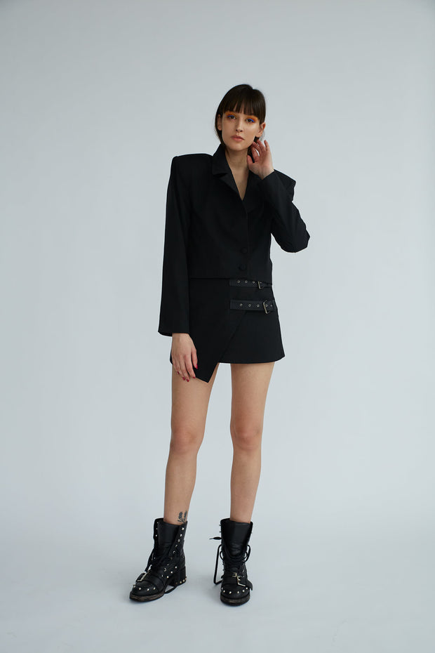 Empowered | Black Triangle Skirt - Le Slap - Black Fashion Outfit Cool Brands Niche
