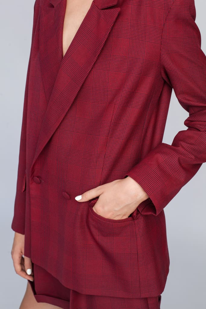 2000 | Burgundy tailoring jacket - Le SLAP - blazer blazers burgundy burgundy clothing co-ords