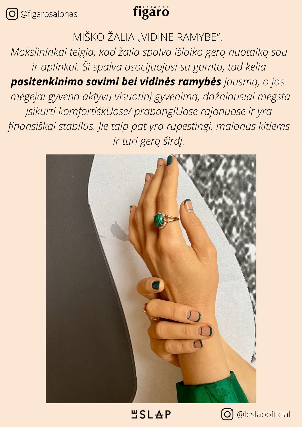 Le SLAP NAIL DESIGN + MANICURE AT FIGARO VILNIUS