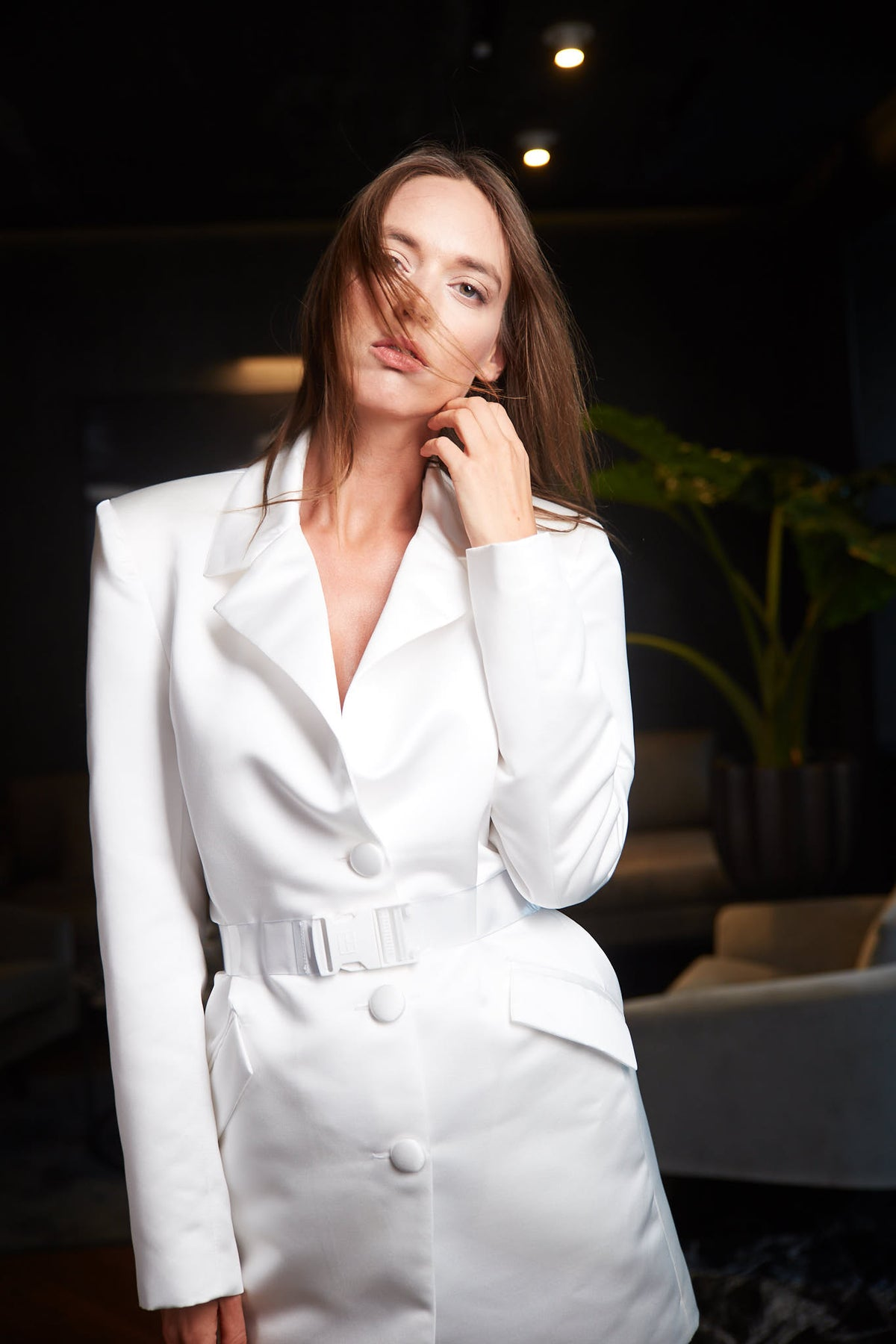 GRACE (KELLY) 1 | WHITE TAILORING JACKET