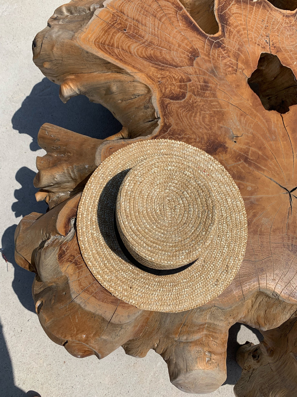 TULUM | Natural straw boater hat