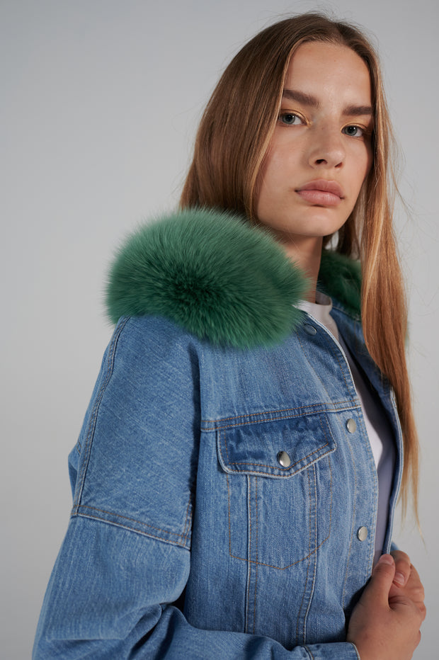 genes2-light-denim-jacket-with-fox-fur-forest-green-collar-le-slap.jpg
