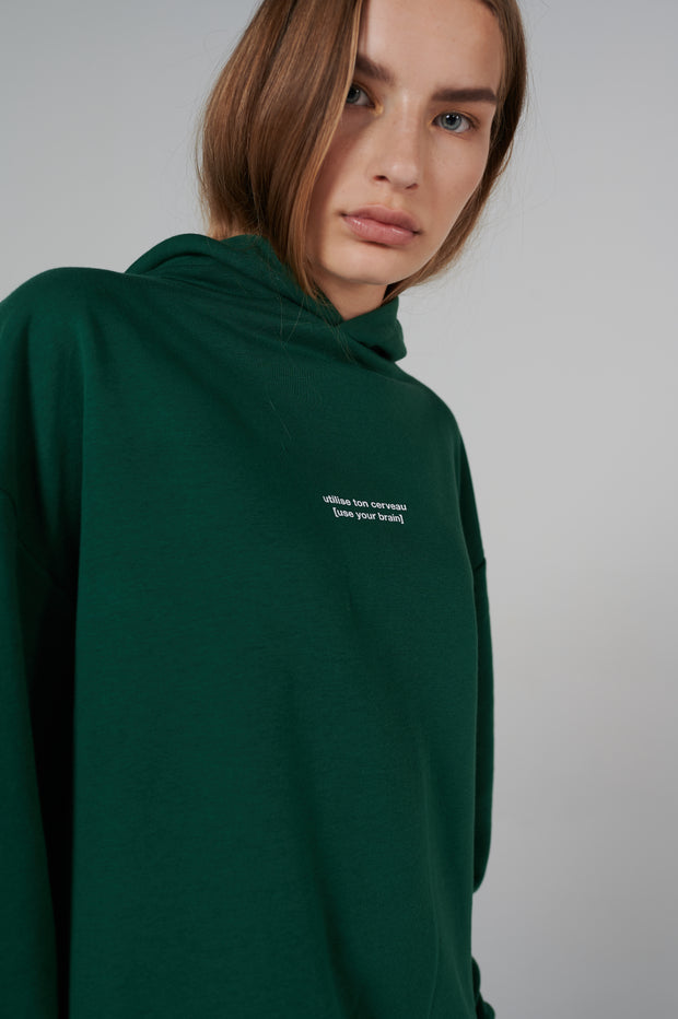 le-sap-model-wearing-french-series-brain-hoodie-oversize-fit-forest-green.jpg