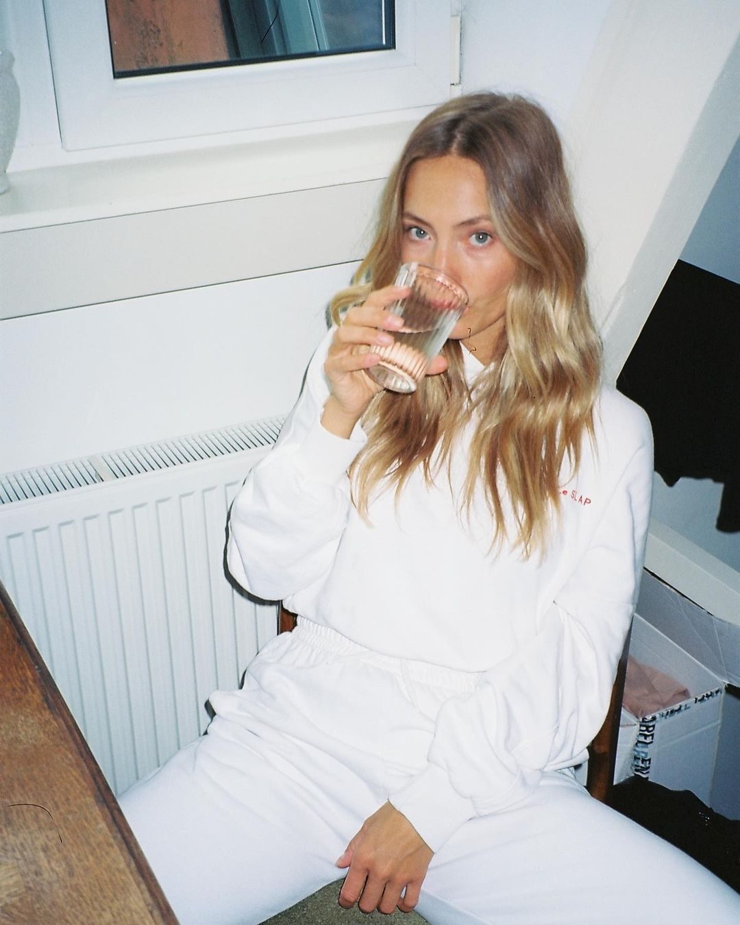 UNIFORM | White lounge wear joggers