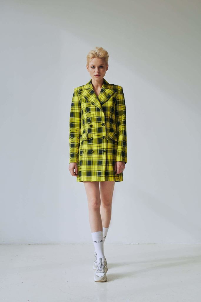 Warhol | Yellow Check Dress/ Jacket - Le Slap