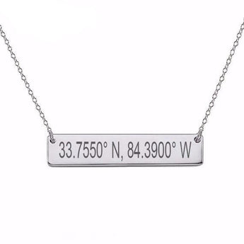 Sterling Silver Coordinates Necklace - My Boho Jewelry
