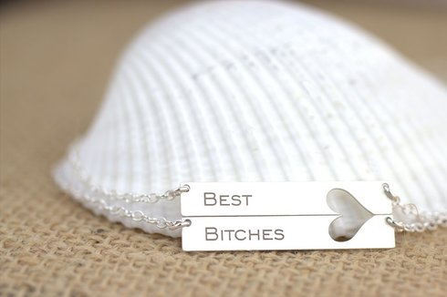 Best Friend Necklace - Best Bitches - My Boho Jewelry