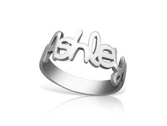 Ashley Style Name Ring - My Boho Jewelry