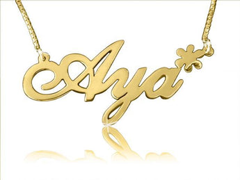 Star Charm Gold Name Necklace - My Boho Jewelry