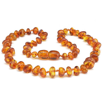 Baby teething amber necklace 78