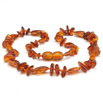 Baby teething amber necklace 91