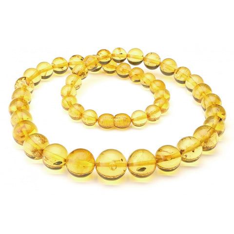 Baltic amber necklace 206