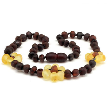 Baroque amber teething necklace 122