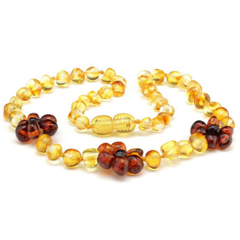 Baroque amber teething necklace 120