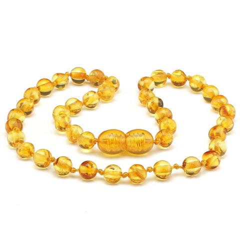 Round amber teething necklace 124