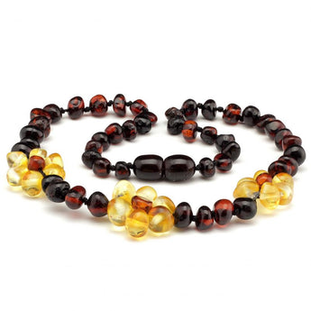 Baroque amber teething necklace 119