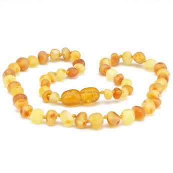 Baroque amber teething necklace 88