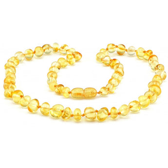 Baroque baltic amber necklace 113