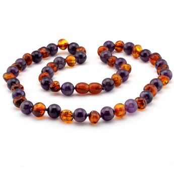 Baroque baltic amber & lapis lazuli necklace 9