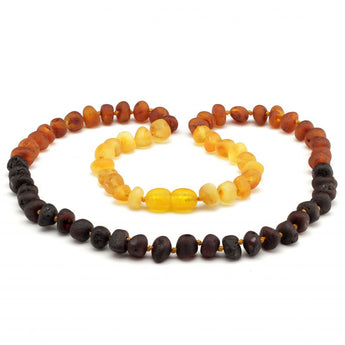 Baroque baltic amber necklace 246