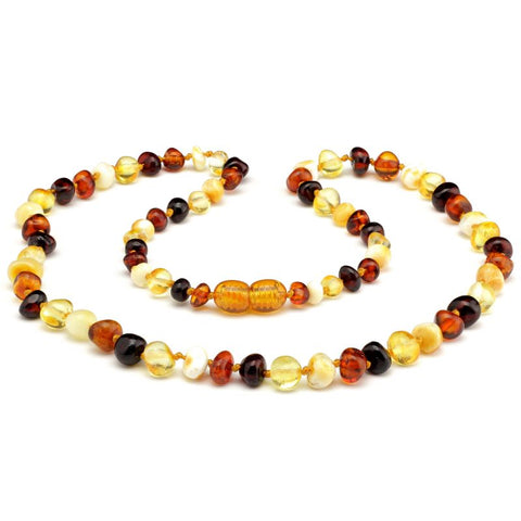 Baroque baltic amber necklace 256