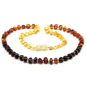 Baroque baltic amber necklace 257