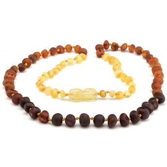 Baroque baltic amber necklace 258