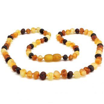 Baroque baltic amber necklace 259