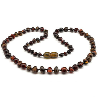 Baroque baltic amber necklace 261