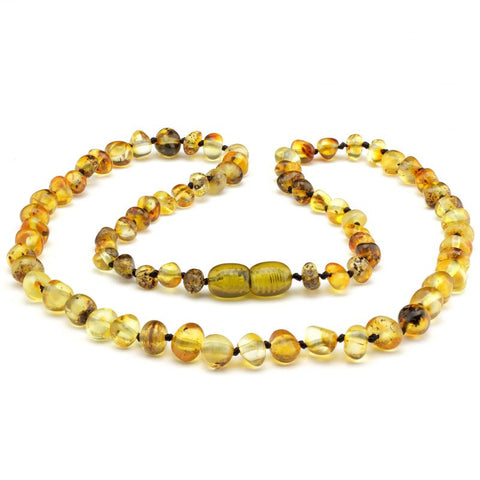 Baroque baltic amber necklace 273
