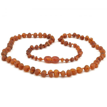 Baroque baltic amber necklace 276