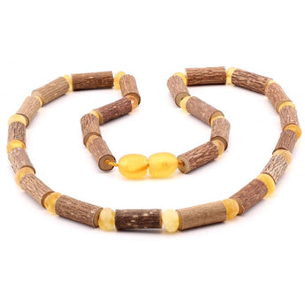 Baroque baltic amber necklace 279