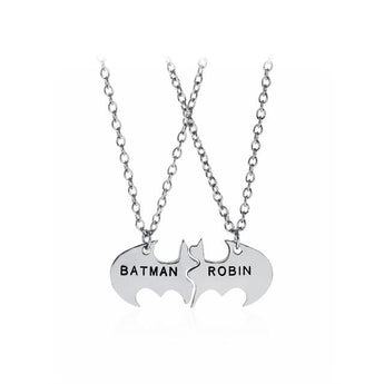 Sterling Silver His and Hers Batman Necklace - My Boho Jewelry