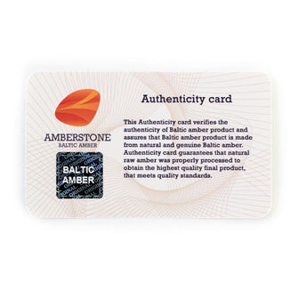 Certificate of authenticy card