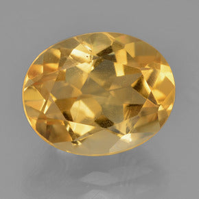 4.71 ct Oval Facet Yellow Golden Citrine 12.1 x 9.8 mm - My Boho Jewelry