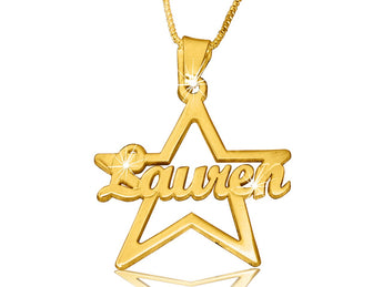 Your Special Star Name Necklace in Solid 14k Gold - My Boho Jewelry