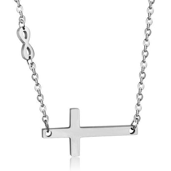 Sterling Silver Cross Infinity Necklace - My Boho Jewelry