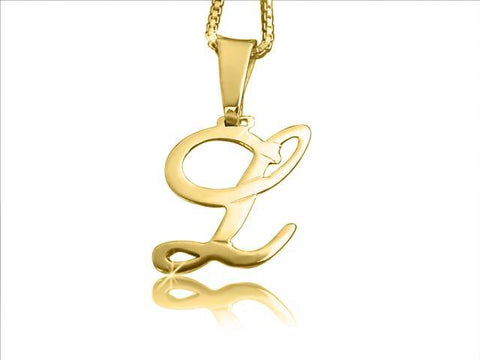 18k Gold Plated Initial Necklace - My Boho Jewelry