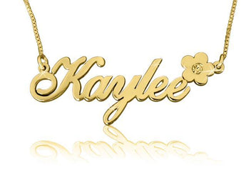 Kaylee Style Name Necklace With Diamond - My Boho Jewelry