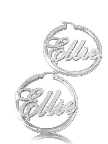 English Hoop Earrings in Sterling Silver - My Boho Jewelry