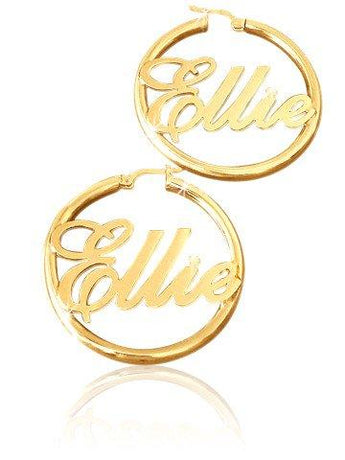 Hoop Earrings in 18k Gold Plating - My Boho Jewelry