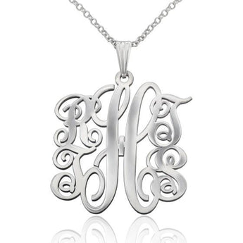 5 Letter Family Monogram Necklace - My Boho Jewelry