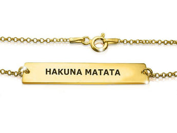 Hakuna Matata Bracelet in Gold Plated 18k - My Boho Jewelry