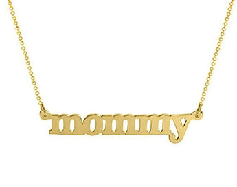Gold name necklace choose any name customized pendant  18k gold plated pendant select any name made with 925 silver plated - My Boho Jewelry