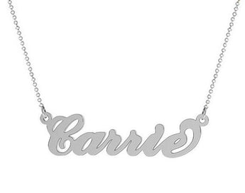 925 sterling silver name necklace Personalized  choose any name - My Boho Jewelry