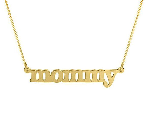 14k Solid Gold  name  necklace  Personalized  choose any name - My Boho Jewelry